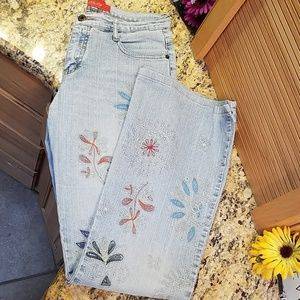Fishbone embroidered jeans 29/30 GUC